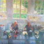 Peter B. van Houten, Alfred en Marjanke, 100 x 120, olieverf, 2015, verkocht