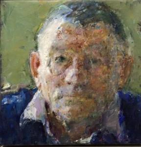 Peter B. van Houten, Portret Bernlef (detail), 30 x 30, olieverf, 2008