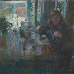 Peter B. van Houten, Haar lach, 100 x 120, olieverf, 2014