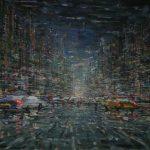 John Verberk, 'Avond in de stad', 130 x 100
