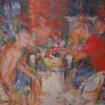 Niels Smits van Burgst, 2016, 'Scene on a balcony' 150 x 200 cm