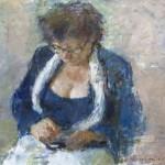 Peter B. van Houten, 'Portret 'Dinie', 50 x 65, olieverf