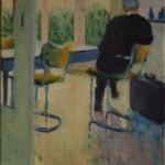 Marijke Snoek, 'Serre/keuken', olieverf op doek, 80 x 40 cm, 2016