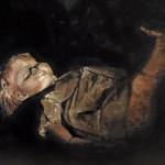 "Marjan de Jonge, ""Left in the dark"", 50 x70 cm, olieverf, 2016"