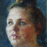 Peter B. van Houten, Portret 'Esther', olieverf, 2015, verkocht