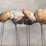 ' Gedragen worden', 30 x 40, olieverf, 2016