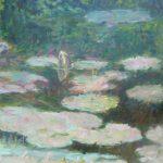 Waterlelies 2, 2015, 100 X 100 cm, olieverf op doek