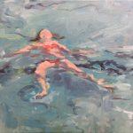 Yvonne Prinsen, Zwemles, 2015, olieverf op doek, 40 x 50