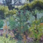 Aukje Tiesinga, 'Heg', olieverf op paneel, 24 x 30, 2016