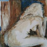 Eveline van Veen, 2016, acryl op papier, 50x65