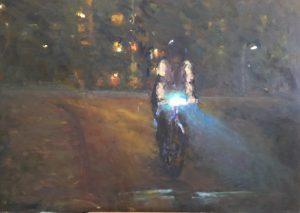 Liesbeth Veenhof, Nacht 1, olieverf op paneel. 70 X 100, 2016