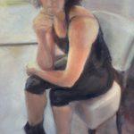 Kim Stabin, 'Helen', 62 x 33, olieverf op canvas, 2016