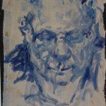 Jia Bei Le, Miniportret, 35 x 25, acryl op papier, 2016
