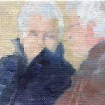 Zwannie Slagter, 'Vrienden', olieverf op doek, 10 x 15, 2016