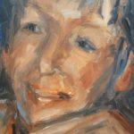 Yteke van der Wal, zonder titel, olieverf, 22 x 15, 2016