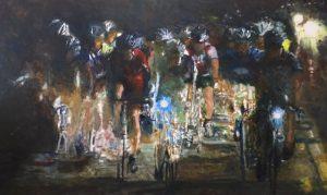 Liesbeth Veenhof, 2016, olieverf, 110 x 180 cm