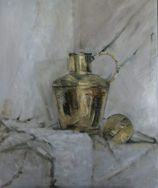 Ella Detmar, naar aanleiding van de masterclass Cees Booij 'Koper, zilver, glas schilderen'.