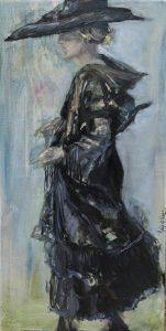 Masterclass Cees Booij 'Schilderen van zwarte kleding', Aukje de Haan