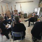 Kunstfilosofie door vakdocent Pieter Adriaans op De Foudgumse School