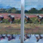 Yteke v d Wal, olieverf op paneel, 2 x 18 x 20 cm, 2017