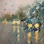 Melda Wibawa, 'Rain on me 3', olieverf op linnen, 60 x 60, 2018