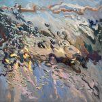 Melda Wibawa, 'Rain on me', olieverf op linnen, 80 x 80, 2017