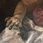 Marjan de Jonge, 'Doll decay', olieverf op doek, 50 x 70, 2017