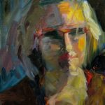 Yteke van der Wal, Portretschets 2, 31 x 24, olieverf, 2018