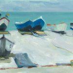 Ben Rikken, 'Boten op het strand van Etretat'