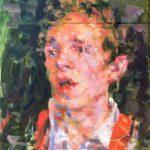 Niels Smits van Burgst .'The Actor', olieverf, 60 x 40, olieverf, 2016