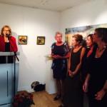 Dinie Goedhart tijdens de opening in Galerie Lauswolt