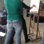 Model tekenen/schilderen, gastdocent John Verberk