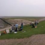 Zomeracademie De Foudgumse School. Masterclass buiten schilderen o.l.v Niels Smits van Burgst en Peter B. van Houten
