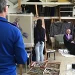 Studie 'pastel' met een predikant als model