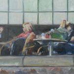 Yteke van der Wal, olieverf, 40 x 120, 2016