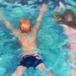 Yvonne Prinsen, 'Zwemles', 80 x 100, olieverf, 2017