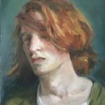 Kim Stabin, 2017, olieverf, 40 x 40