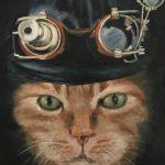 Marjan de Jonge, 'Foppe goes steampunk', olieverf op doek, 50 x 60, 2017