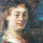 Peter B. van Houten, olieverf, 25x25, Saskia-