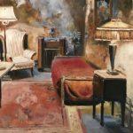 Marjan de Jonge, 'de cel van Al Capone', olieverf 60x80, 2018