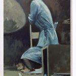 Julio Diaz Rubio, Memory of a bolero, Oil on paper, 30x40, 2017
