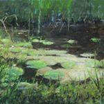 John Boosman, 'Gele plomp in sloot', olieverf op paneel, 50x70, 2018