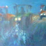 Ingrid Struijs-tractoren-in-de-nacht-