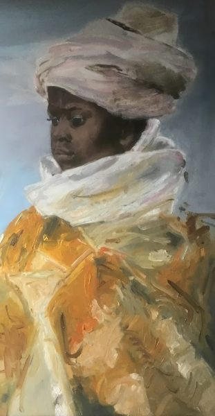 Monique van de Wal, 2018, 65x80 (detail), olieverf op paneel Mdf