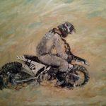 Jacqueline Verhoef, Strandrace-Lemmer, Acryl op doek, 60 x 80, 2018