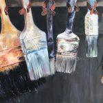 Marjan de Jonge, 'Schilderen maar dan anders', 60 x 80, olieverf op doek, 2018