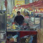 Melda Wibawa 'Pasar Raya Rijswijk (1), Olieverf, 60 x 50 , 2018