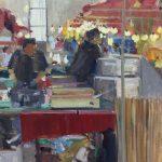 Melda Wibawa 'Pasar Raya Rijswijk (2), Olieverf, 50 x 40, 2018