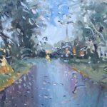 Melda Wibawa 'Rain on me (13)', Olieverf, 70 x 140, 2018