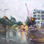 Melda Wibawa 'Rain on me (16)', Olieverf, 30 x 40, 2018